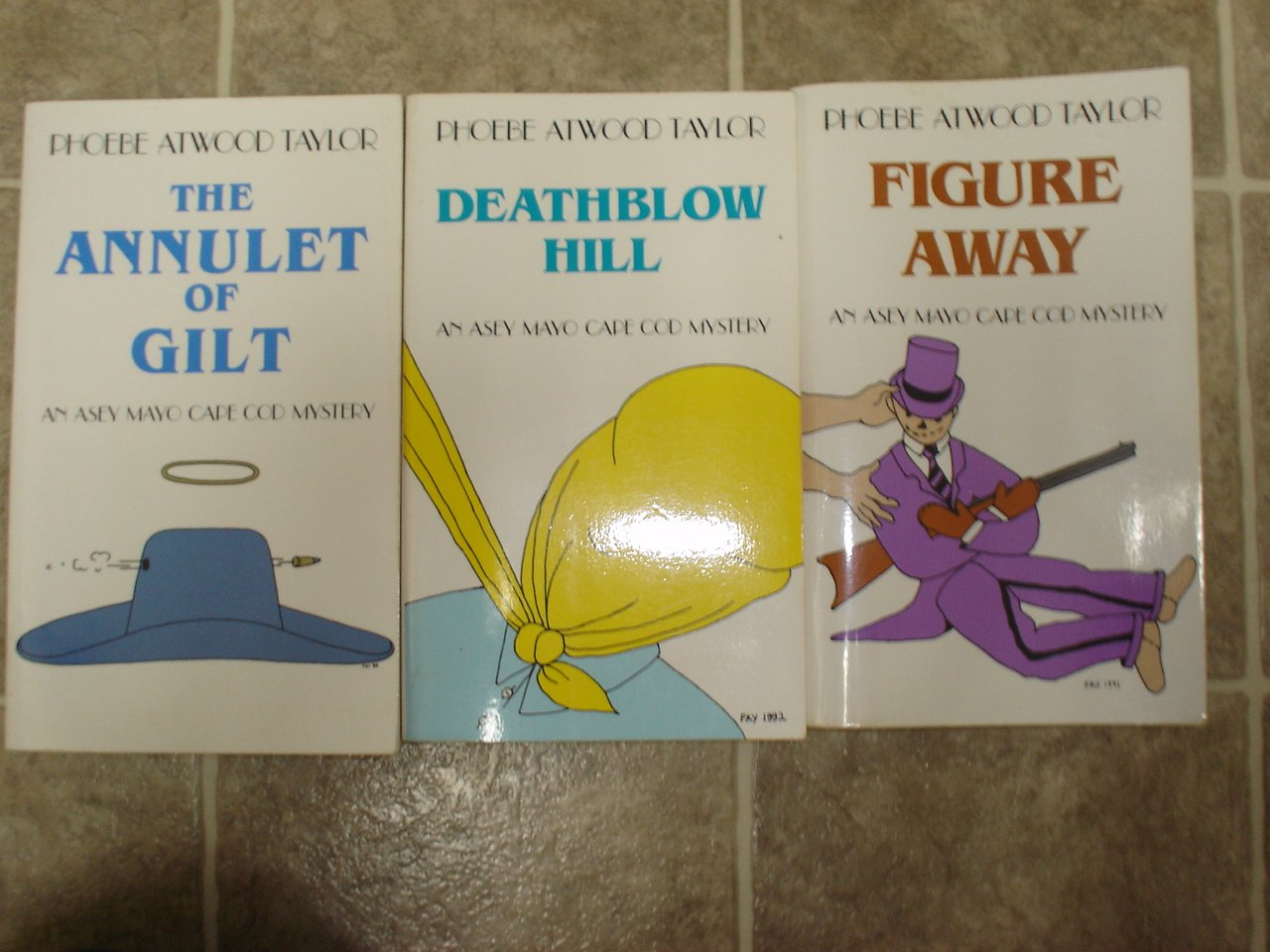 Phoebe Atwood Taylor lot of 3 pb cozy mystery books Cape Cod Asey Mayo