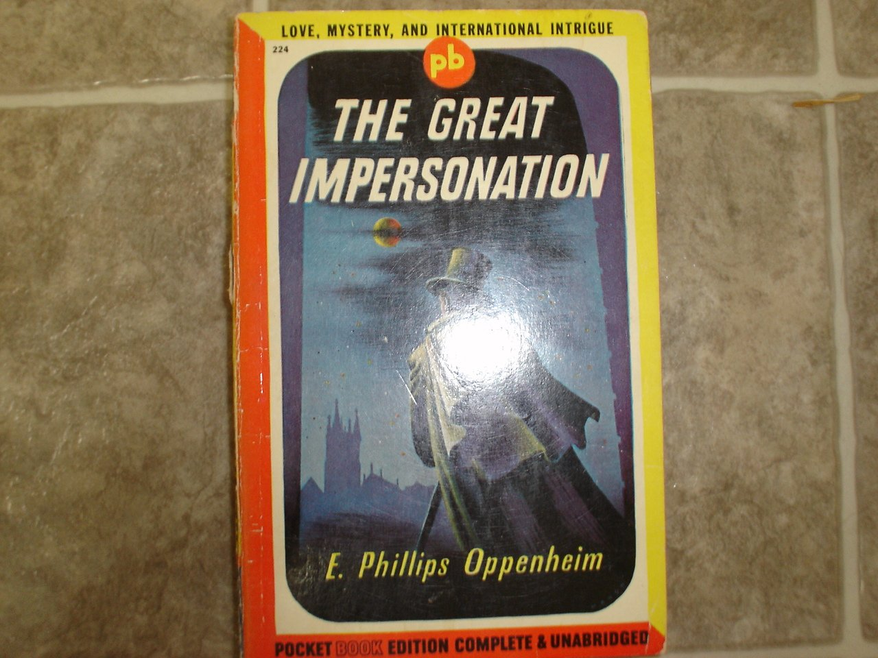"E Phillips Oppenheim ""The Great Impersonation"" 1945 vintage pulp espionage"
