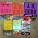 Nora Roberts as J.D. Robb lot of 6 HC pb romantic suspense books JD