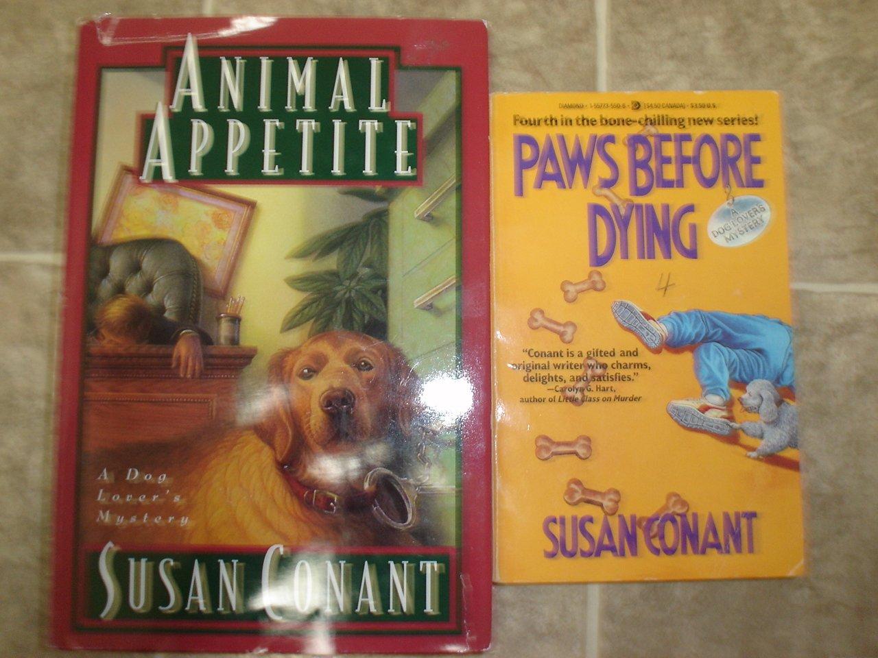 Susan Conant lot of 4 pb hc mystery books cozy dog lovers