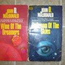 John D MacDonald lot of 2 pb vintage science fiction books mystery