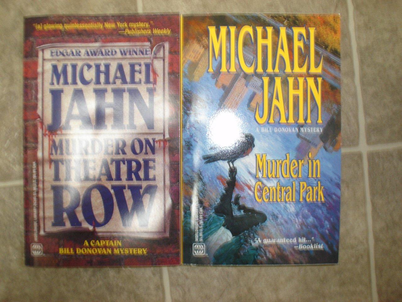 Michael Jahn lot of 2 pb mystery books Bill Donovan New York City