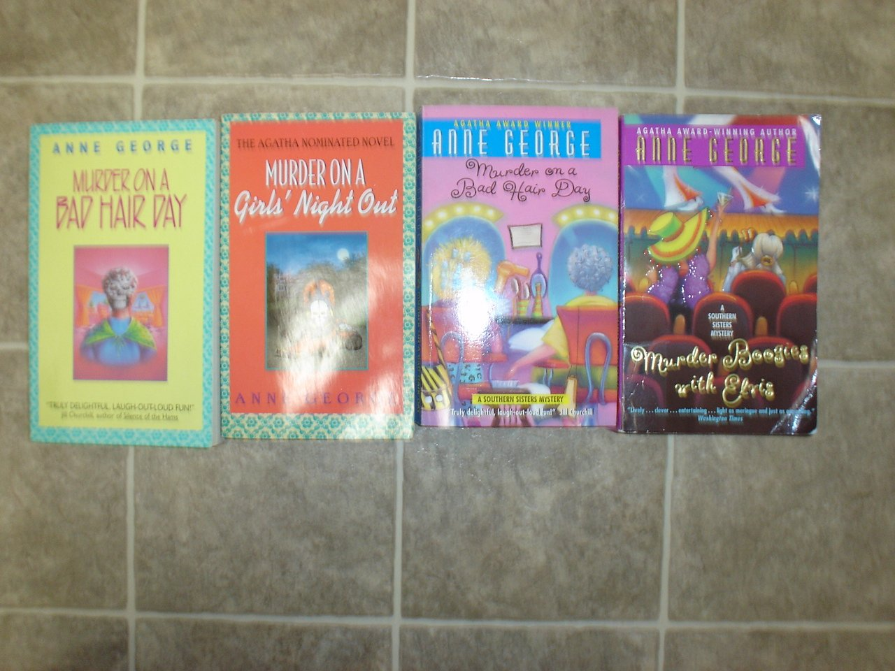 Anne George lot of 4 pb mystery novels books cozy Southern Sisters