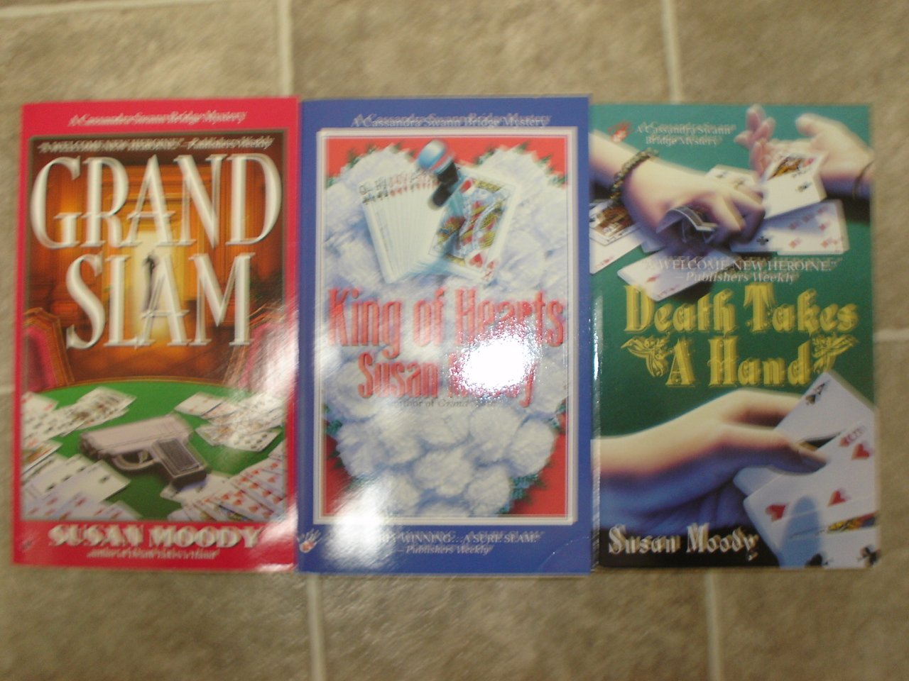 Susan Moody lot of 3 pb mystery novels books cozy Cassandra Swan Bridge Berkley Prime Crime