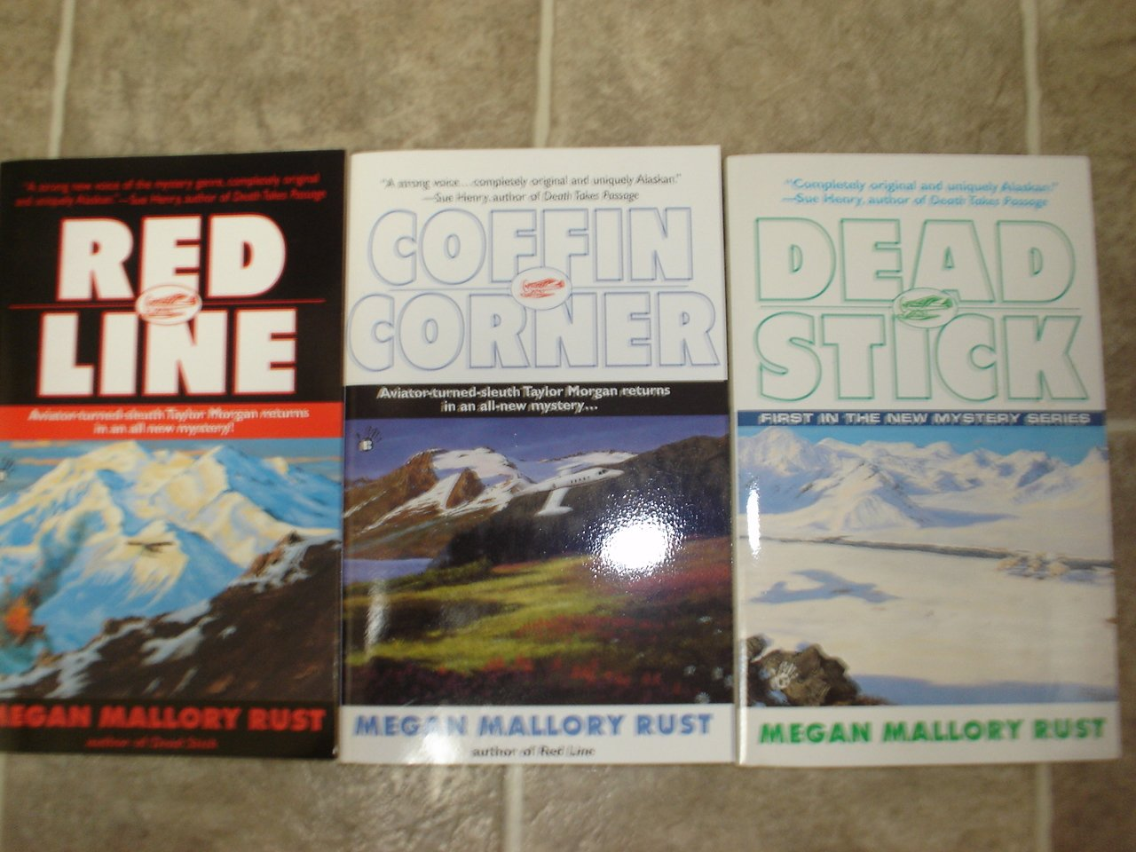Megan Mallory Rust lot of 3 pb mystery books cozy Alaska Aviator Taylor Morgan Berkley Prime Crime