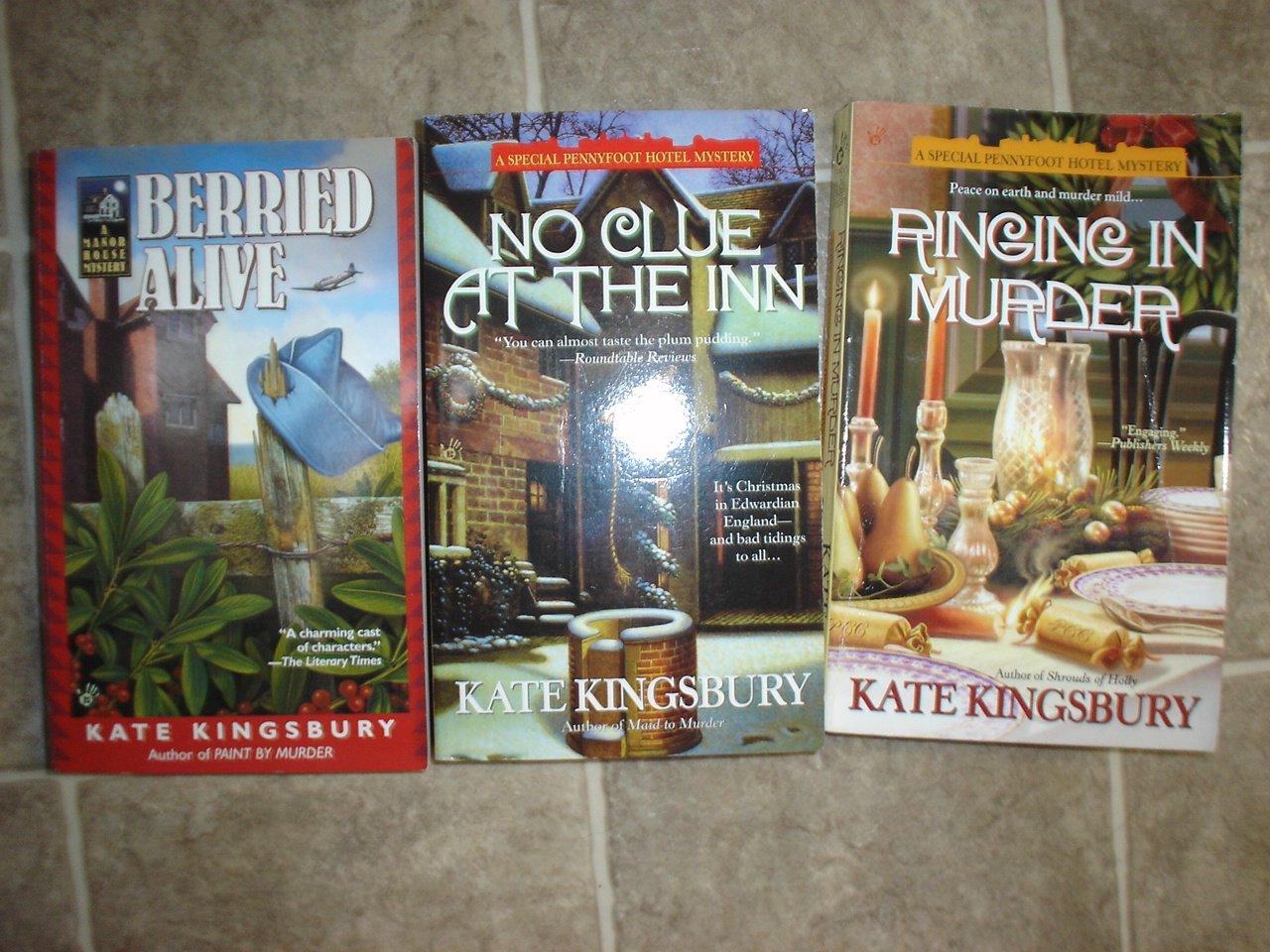 Kate Kingsbury lot of 3 pb mystery books cozy Manor House Berkley Prime Crime