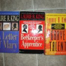Laurie R King lot of 4 pb mystery books Mary Russell Sherlock Holmes