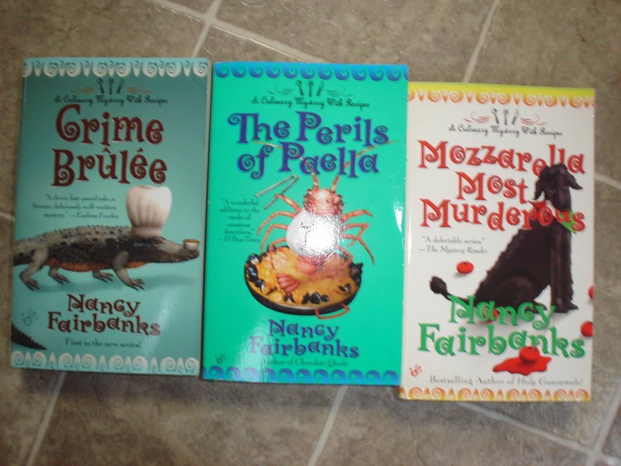 Nancy Fairbanks lot of 3 pb mystery books cozy Culinary Carolyn Blue Berkley Prime Crime