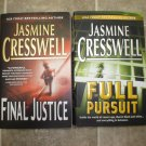 Jasmine Creswell lot of 2 pb romantic suspense mystery books