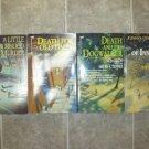 A. J. Orde lot of 4 pb mystery books Jason Lynx Antiques Colorado Sheri S Tepper