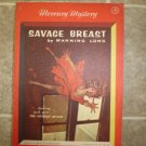 "Manning Long ""Savage Breast"" vintage pulp pb Mercury Mystery #207"