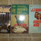 J. J. Marric lot of 3 pb mystery vintage Gideon JJ