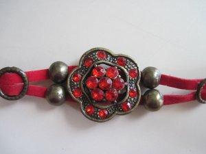 NEW Asian Flower Red Bracelet