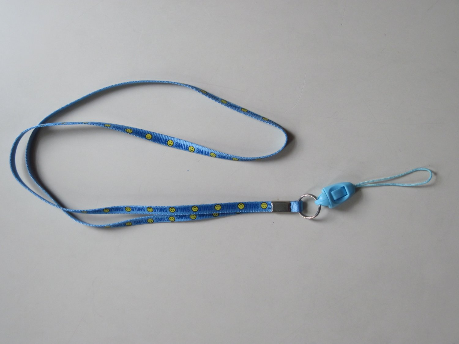 NEW Cell Phone / ID holder neck straps (Blue color SMILEY print)