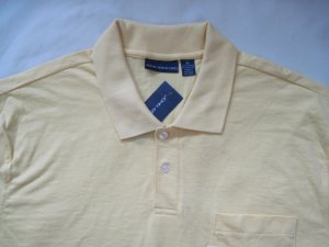 NEW JOHN ASHFORD MEN POLO SHIRT size XL, YELLOW