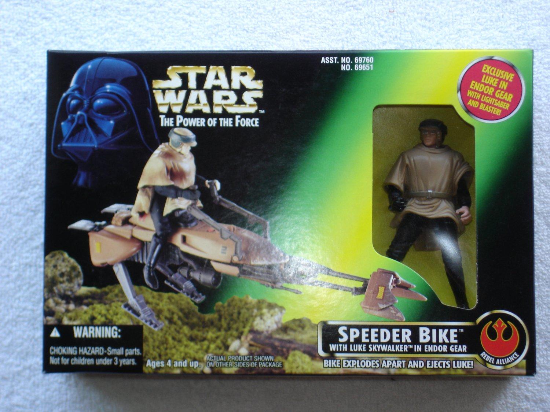 Star Wars POTF Speeder Bike with Luke Skywalker