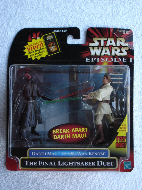 Star Wars TPM Deluxe Darth Maul vs. Obi-Wan Kenobi