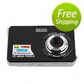 Touch Screen Digital Camera 2.4&#039; inch TFT LCD 12.0 MP 8X