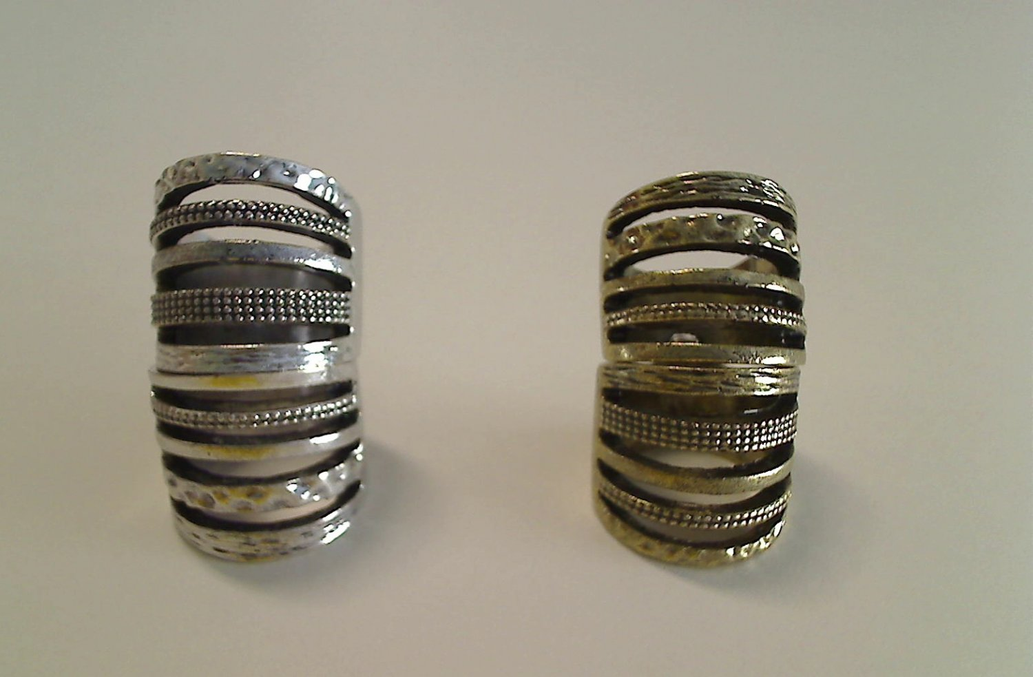 CAGE ARMOR KNUCKLE RING ANTIQUE GOLD OR SILVER SIZES 6*7*8*9*10*11