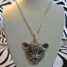 Cheetah Necklace With Blue Stones