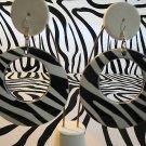 Zebra Circle Earrings