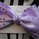 Big Purple Bow With Rhinestones