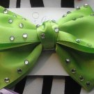 Big Green Bow With Rhinestones