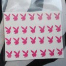 Pink Playboy Bunny Nail DEcals Set Of 28 decals