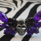 Purple Skull With Wing Ring