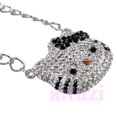 XL Hello Kitty Necklace Black Bow