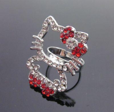 Red Hello Kitty Full Body Ring