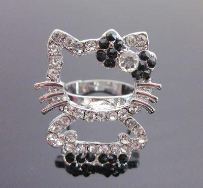 Black Hello Kitty Full Body Ring