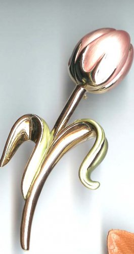 Fashion jewelry - Pink Tulip Bud Pin - NEW - free sh/h