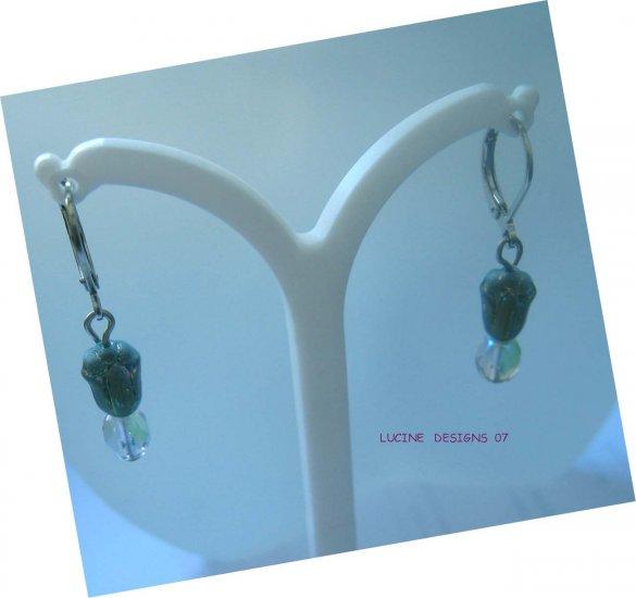 Flower earrings: Tulip drop earrings by Lucine