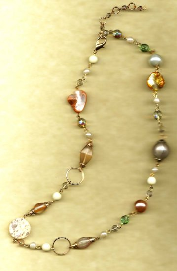 One of a kind Jewelry: linked fashion necklace by Lucine - Wholesale - NEW