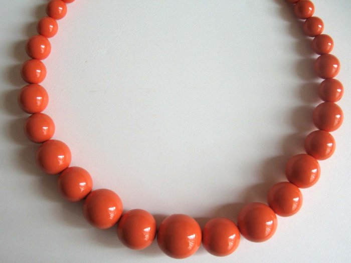 Hot orange graduated adjustable necklace - a must have jewelry - wholesale