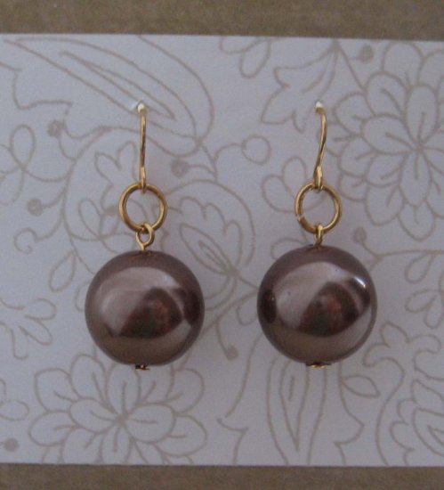 Large bauble drop earrings - free sh/h