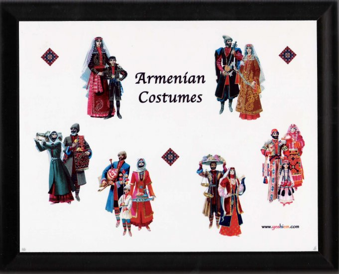 Armenian costumes plaque - free sh/h