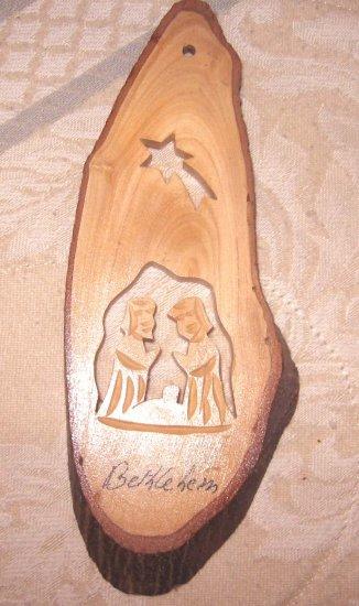 The manger in wood - made in Jerusalem - woodwork