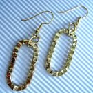 Fashion earrings: hammered gold earrings - 537E