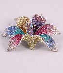 Orchid multicoloured gorgeous flower pin brooch