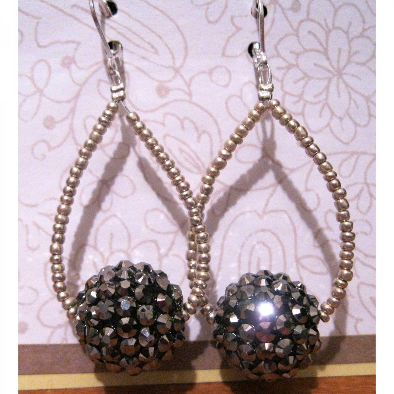 Silver statement fashion earrings
