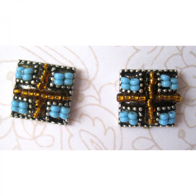 Unique blue fashion earrings -1537/8E