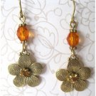 Trendy flower fashion earrings with crystal -1514e