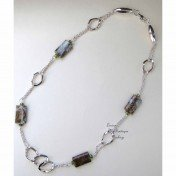 Jasper one of a kind trendy fashion necklace by Lucine