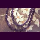Amethyst double row fashion semiprecious necklace by Lucine limited ed