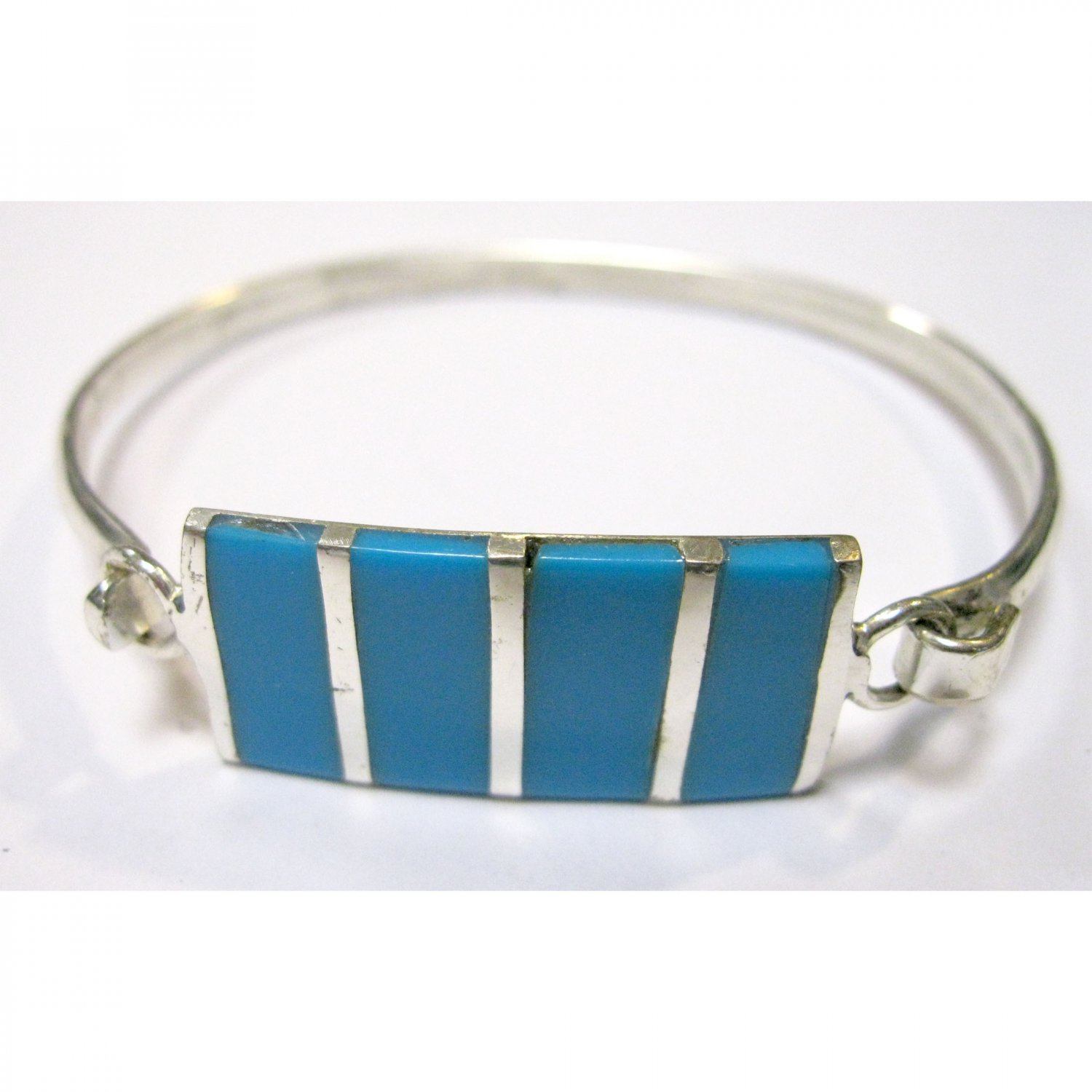 Turquoise sterling silver bangle bracelet