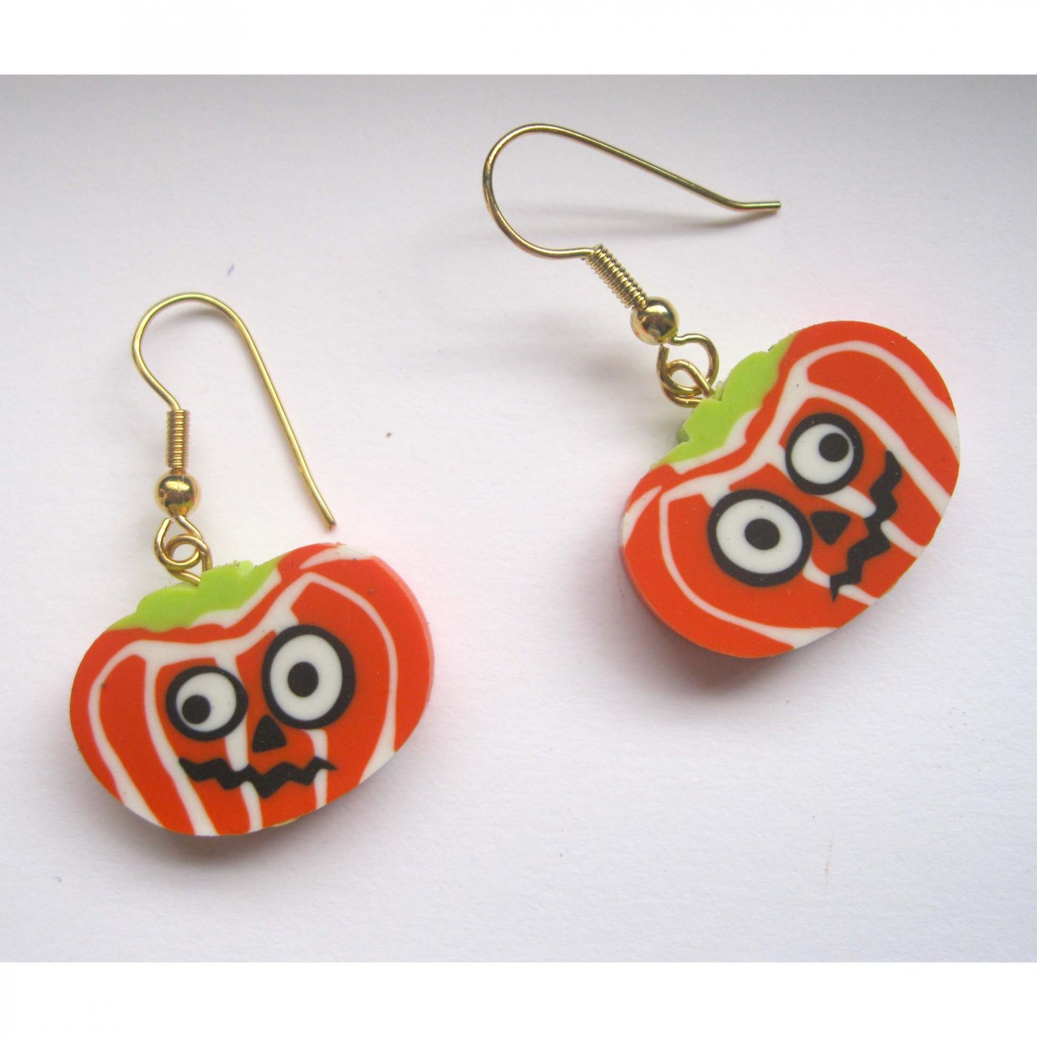 Pumpkin Halloween fashion drop earrings