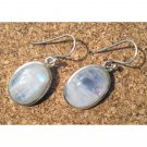 Oval Opal sterling silver semiprecious fashion earrings