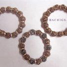 Set of 3 sparkly slip on bracelets with crystals - Great bargain